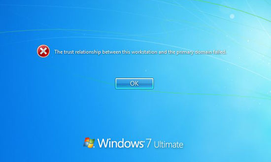 windows xp trust relationship between this workstation
